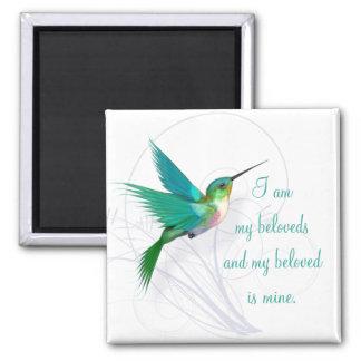 Hummingbird Swirl Magnet ~ My Beloved