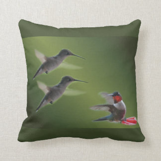 hummingbird throw pillow customize