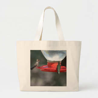 Hummingbird tote2 large tote bag