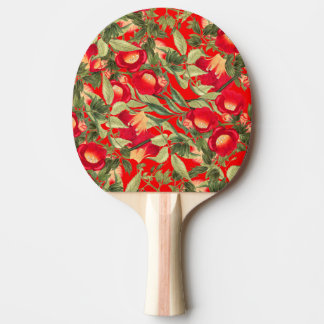 Hummingbird Trumpet Vine Flowers Floral Paddle Ping Pong Paddle