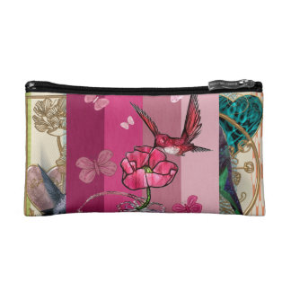 """hummingbird trusses "" cosmetic bag"