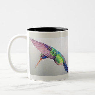 Hummingbird Two-Tone Coffee Mug
