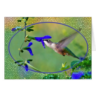 Hummingbird with Stained Glass Card