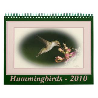 Hummingbirds - 2010 wall calendars