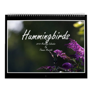 Hummingbirds 2018 Monthly Calendar By Tom Minutolo