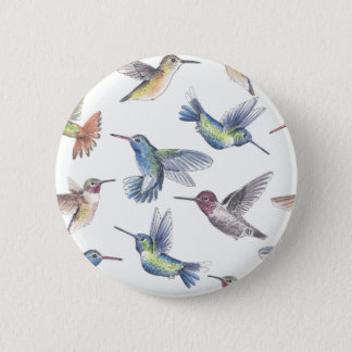 Hummingbirds 2 Inch Round Button