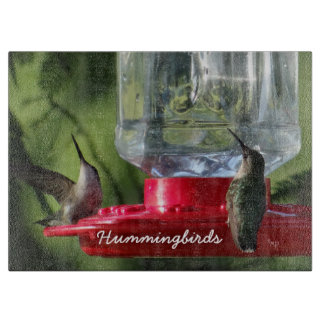 Hummingbirds 9508 Glass Cutting Board-customize Cutting Board