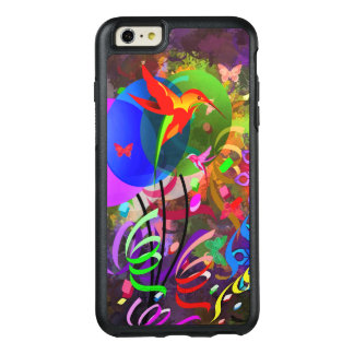 Hummingbirds and butterflies colorful abstract OtterBox iPhone 6/6s plus case