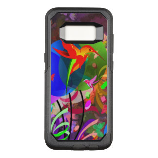 Hummingbirds and butterflies colourful abstract OtterBox commuter samsung galaxy s8 case
