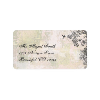 Hummingbirds and Flowers Address Label