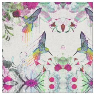 Hummingbirds and Flowers Fabric