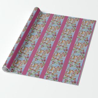 Hummingbirds and Hibiscus Giftwrapping paper