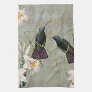 Hummingbirds and Lilies Kitchen Towel