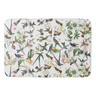 Hummingbirds Birds Animals Flowers Bath Mat
