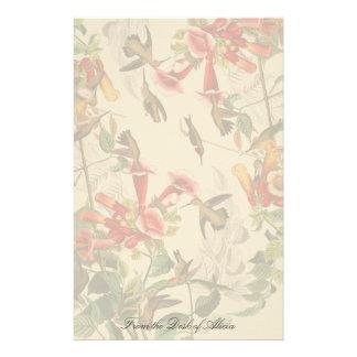 Hummingbirds Birds Floral Wildlife Stationery