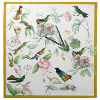 Hummingbirds Birds Flowers Floral Animals Wildlife Napkins