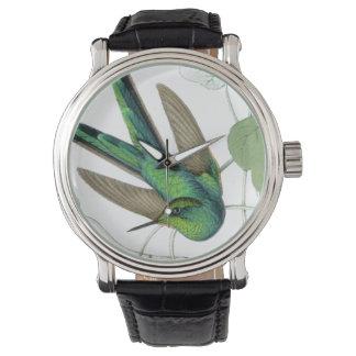 Hummingbirds Birds Flowers Floral Animals Wildlife Wrist Watch