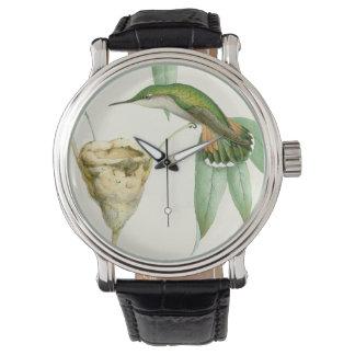Hummingbirds Birds Flowers Floral Animals Wildlife Wrist Watches