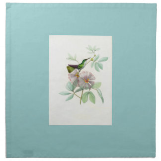Hummingbirds Birds Flowers Floral Wildlife Animals Cloth Napkin