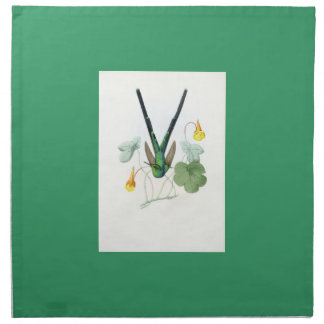 Hummingbirds Birds Flowers Floral Wildlife Animals Printed Napkins