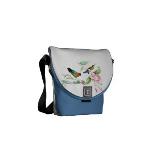 Hummingbirds Birds Wildlife Animals Flowers Floral Commuter Bags