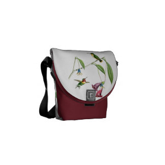 Hummingbirds Birds Wildlife Animals Flowers Floral Courier Bag