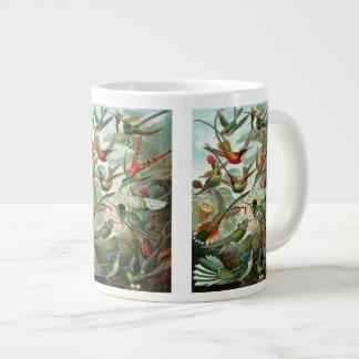 Hummingbirds by Ernst Haeckel, Vintage Birds Trees Large Coffee Mug