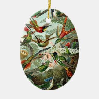 Hummingbirds Ceramic Ornament