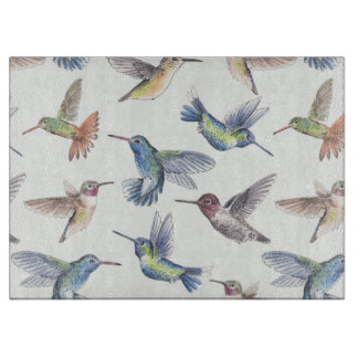 Hummingbirds Cutting Board