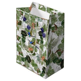 Hummingbirds Ferns Leaves Flowers Islands Gift Bag