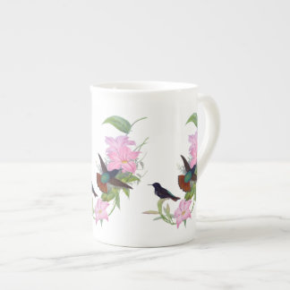 Hummingbirds Floral Botanical Bone China Mug