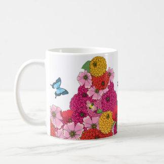 Hummingbirds Flowers and Butterflies Mug