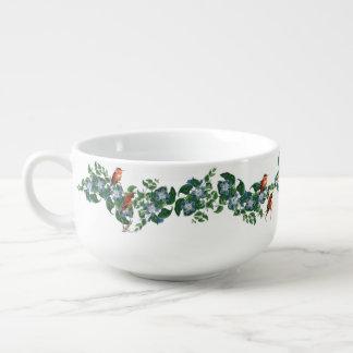 Hummingbirds Flowers Floral Birds Soup Mug Bowl