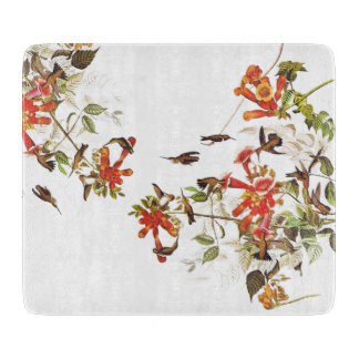 Hummingbirds Glass Cutting Board