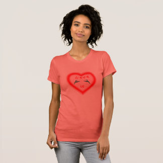 Hummingbirds in heart - Love is T-Shirt