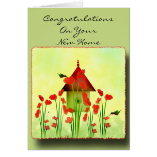Hummingbirds in the Poppies Greeting Card