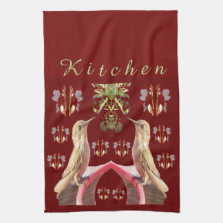 Hummingbirds Kitchen Towel-Home-Cardinal Red/Green Kitchen Towel