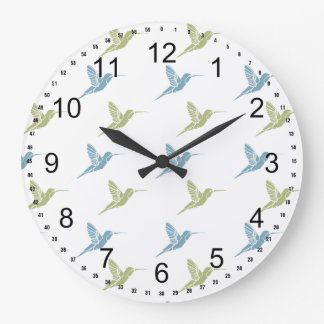 Hummingbirds Large Clock
