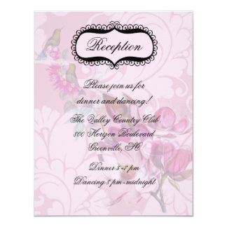 Hummingbirds Magnolias Reception Card