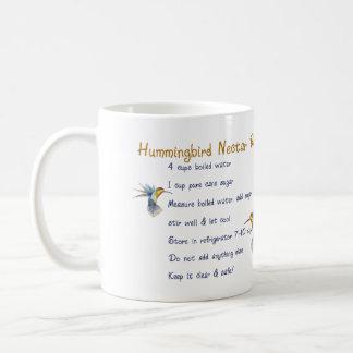 Hummingbirds Nectar Recipe Classic White Coffee Mug