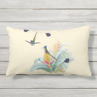 Hummingbirds on Bromeliads Outdoor Lumbar Pillow