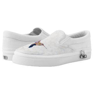 Hummingbirds Pastel Slip-On Sneakers