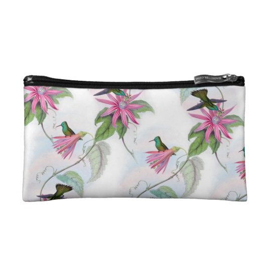 Hummingbirds pattern cosmetic bags
