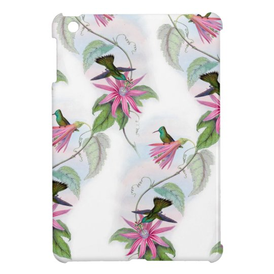 Hummingbirds pattern iPad mini case