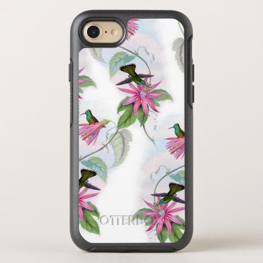 Hummingbirds pattern OtterBox symmetry iPhone 7 case