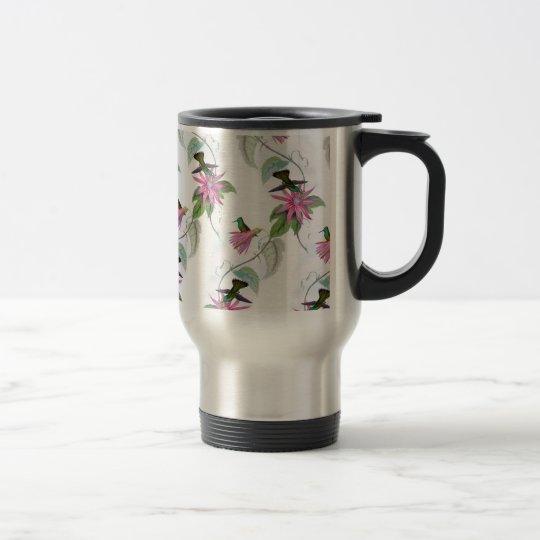 Hummingbirds pattern travel mug