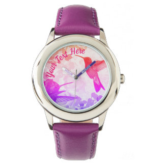 Hummingbirds Personalized Watch