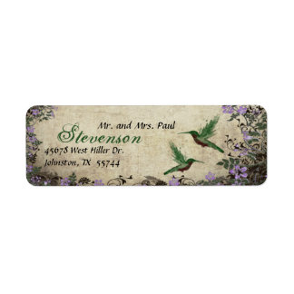 Hummingbirds Return Address Label