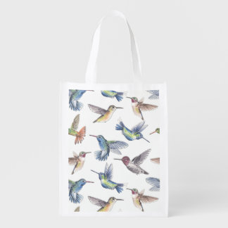 Hummingbirds Reusable Grocery Bag