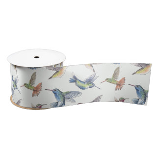 Hummingbirds Satin Ribbon